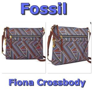Fossil Fiona multicolor Crossbody